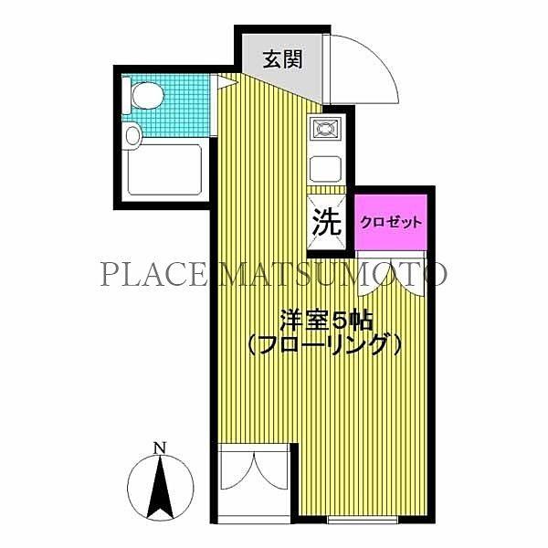 吉住コーポ亀戸第二 302号室 間取図