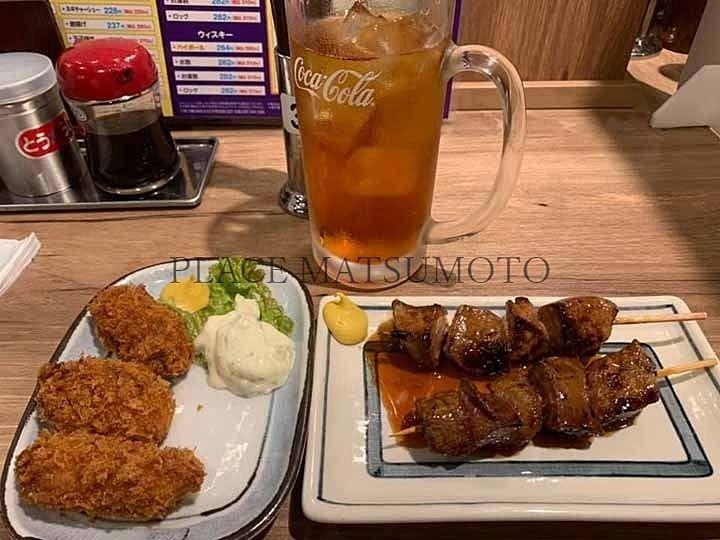 レバ カキフライ 焼鳥日高 亀戸北口店