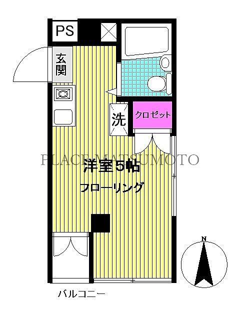 吉住コーポ亀戸第2 203号室 間取図面