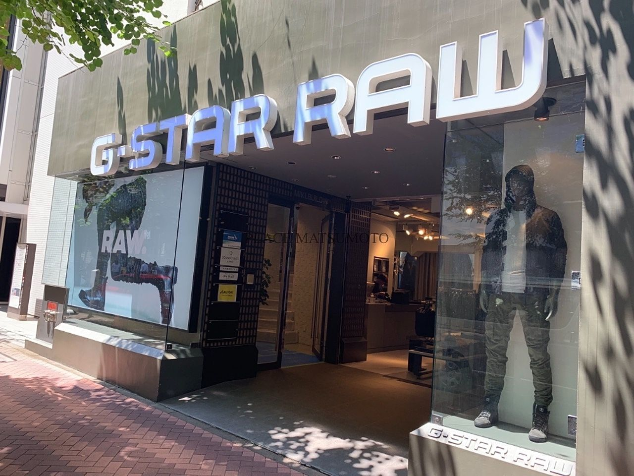 G-Star RAW Store Tokyo Ginza 外観写真