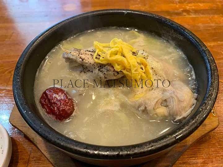 豚ウォーリーの参鶏湯(半身)